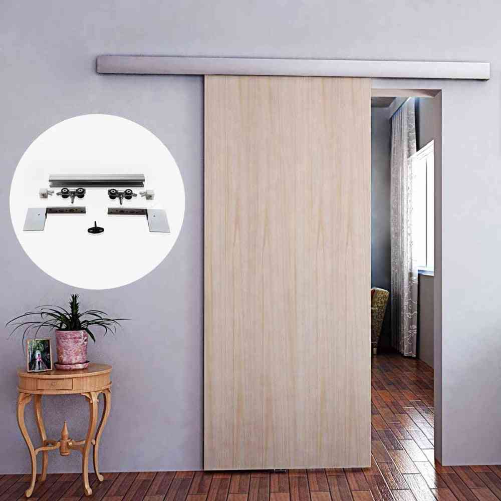 Aluminium Alloy Frameless Wood Barn Sliding Door Hardware