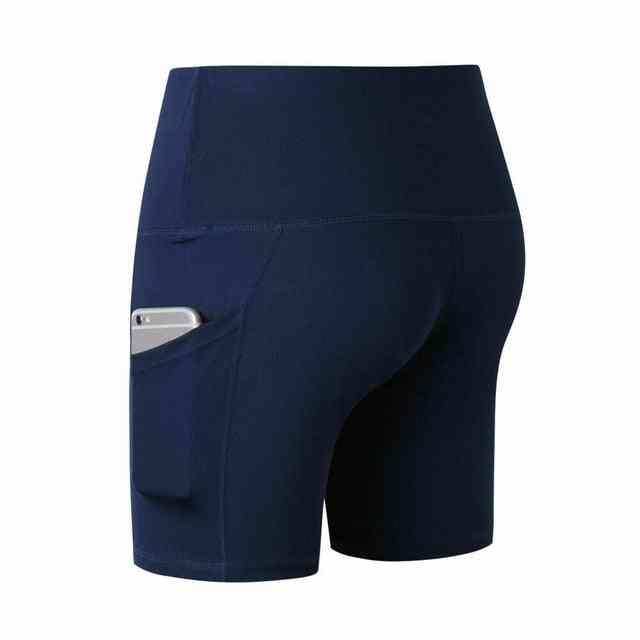 Women's High Waist Sports Short With Side Pocket