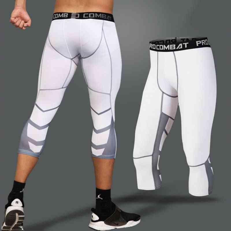 3/4 Men's Leggings Tights- Fitness/sports Pants