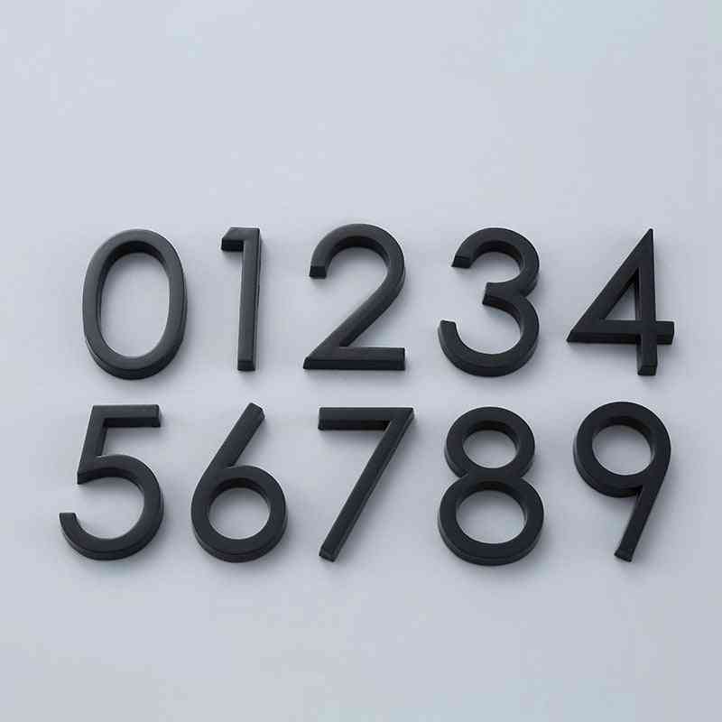 Digits 0 To 9- Plastic Number Tag For House Address Door Plates