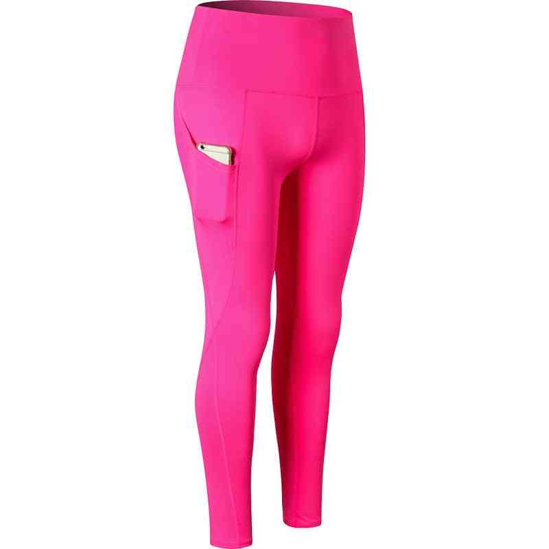 Women Fitness Slim Tights With Side Pocket
