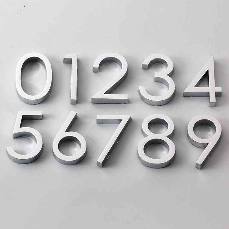 3d Numeral Door Plaque & Drawer Sign Plating Gate Digits, 0 To 9 Plastic Number Tag