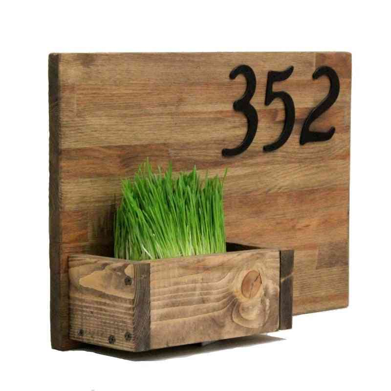 Number For House Address Sign With Aluminum Nail Fixed And Mailbox