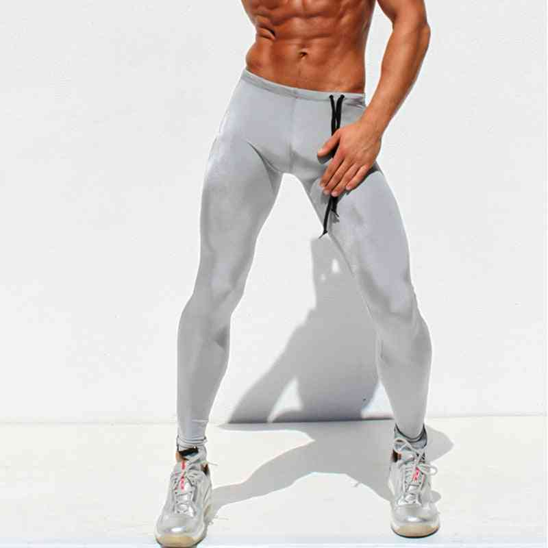 Running Tights Men- Sports Pants Yoga Leggings Compression Athletic Workout Trousers