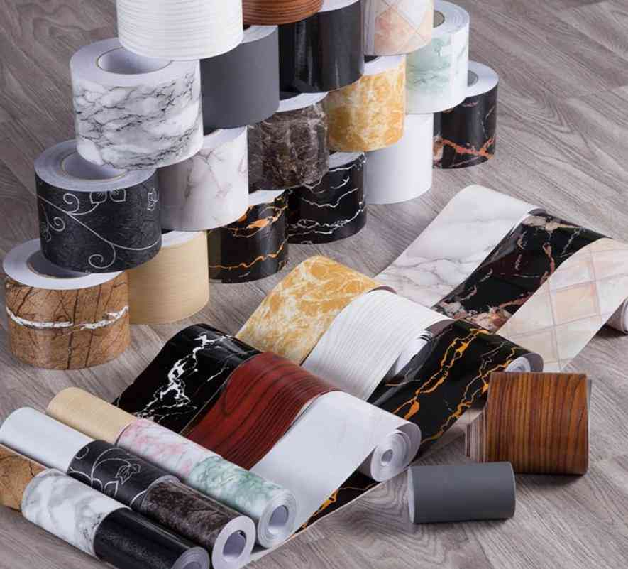 Pvc, Waterproof, Waist Line, Self Adhesive Wallpaper