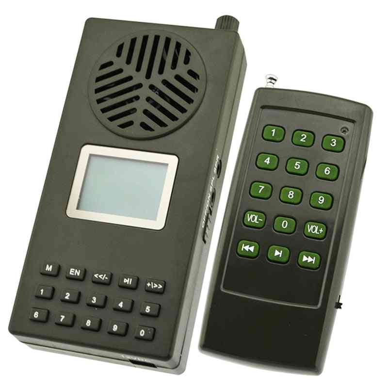 Duck Bird Sounds, Wild Hunting Decoy Voices Loudspeaker Remote Control Mp3 Player