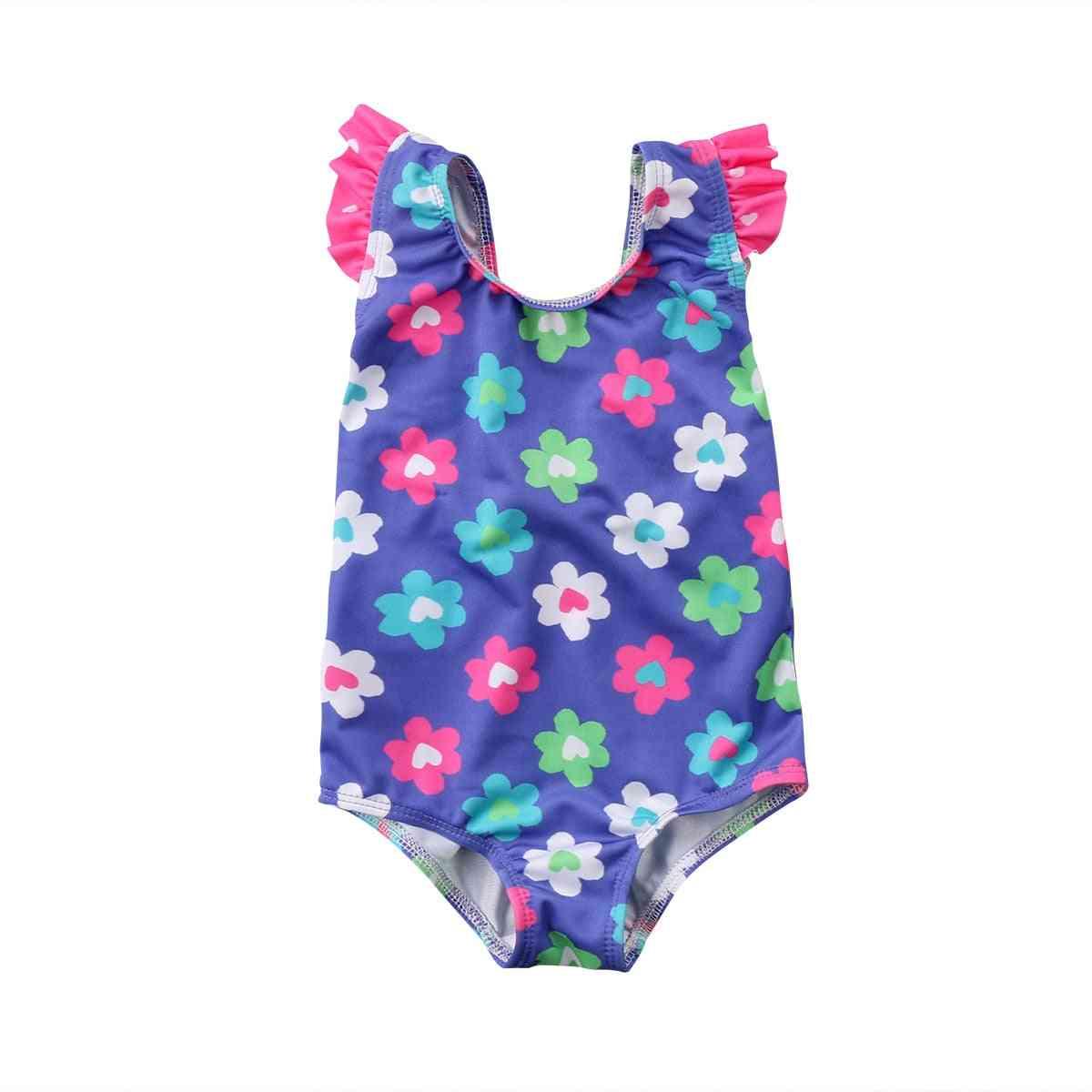 Cute Newborn Baby Swimsuit Princess Flower Swimwear