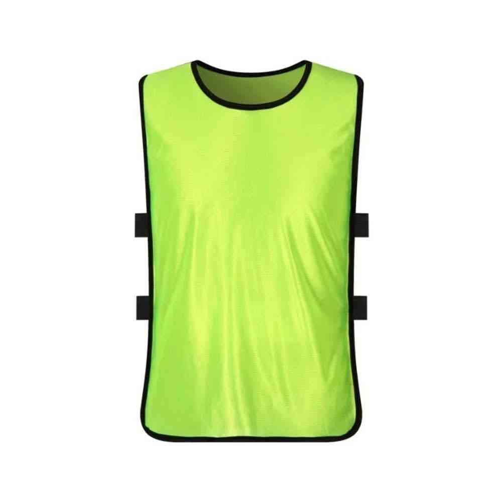 Children Soccer Practice Sports Vest, Breathable Team Training Bibs