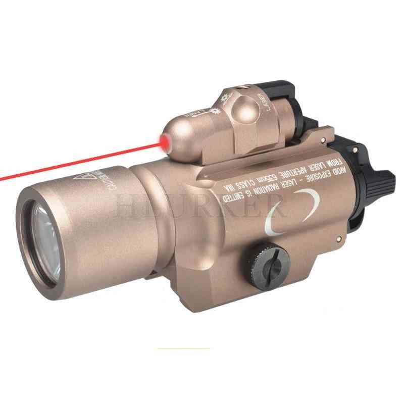 Tactical Hunting Army Airsoft Weapons, Scout Weapon Light With Red Laser Scope