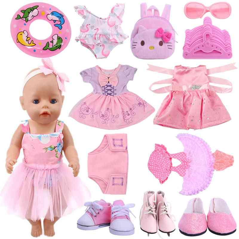 Clothes, Canvas Shoes And Other Accessories For 18 Inch American Newborn Doll