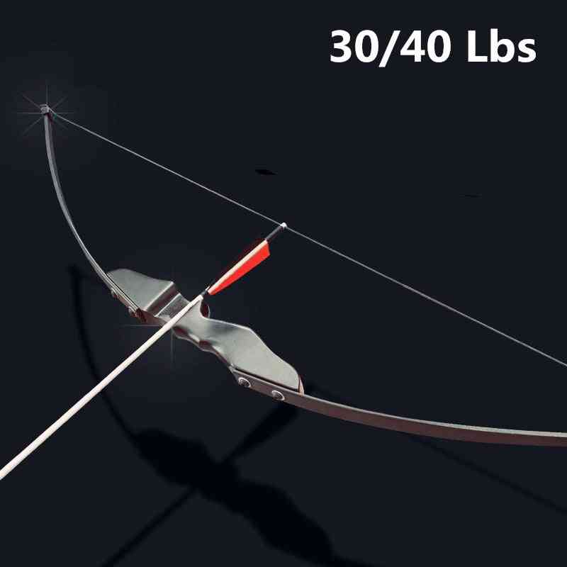 Recurve For Right Hand Wooden Archery Bow, Outdoor Shooting Hunting Accessories Sports