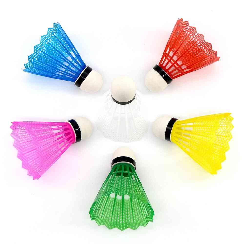 Reusable Colorful Shuttlecocks For Beginners Badminton Training