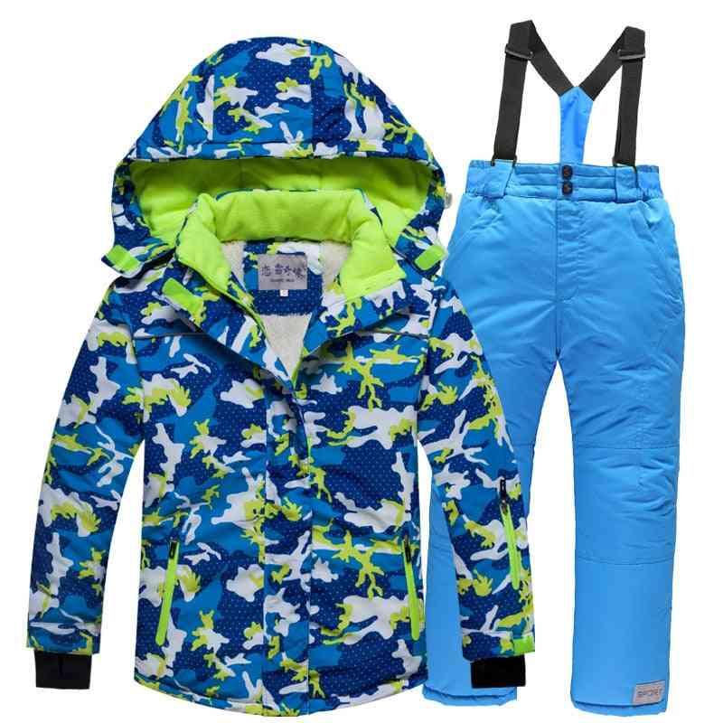 Kids Windproof, Warm, Hooded Snow Suit
