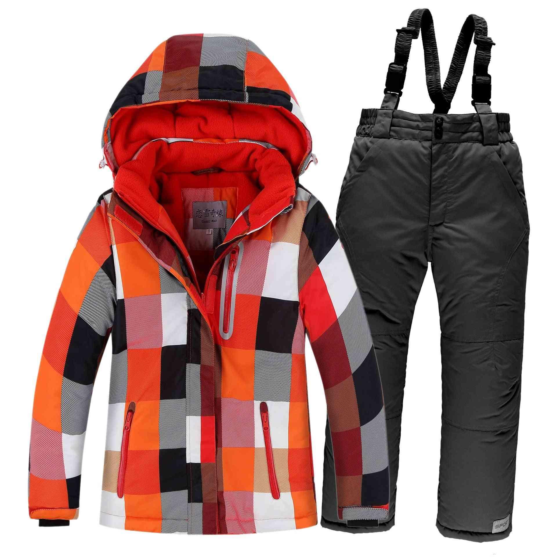 Jacket Pants Ski Set For Kids