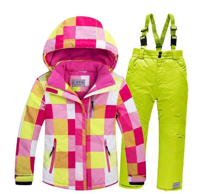 Windproof Warm Fleece Snow Suit For Kids