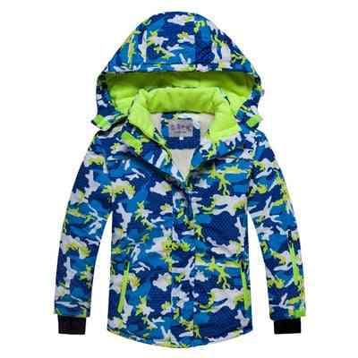 Hooded Kacket Pants Ski Set For Kids