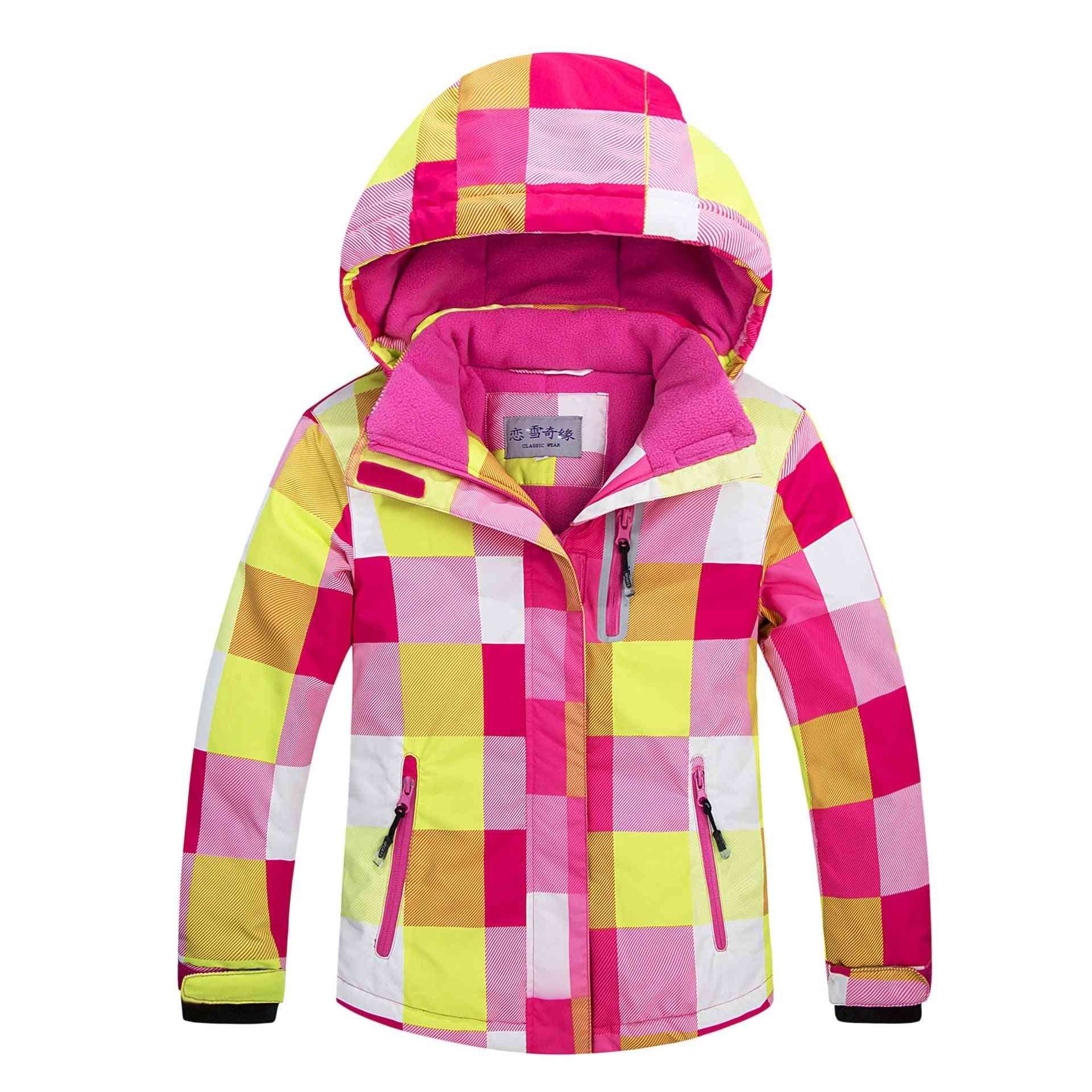 Windproof Warm Fleece Snow Jacket For Kids