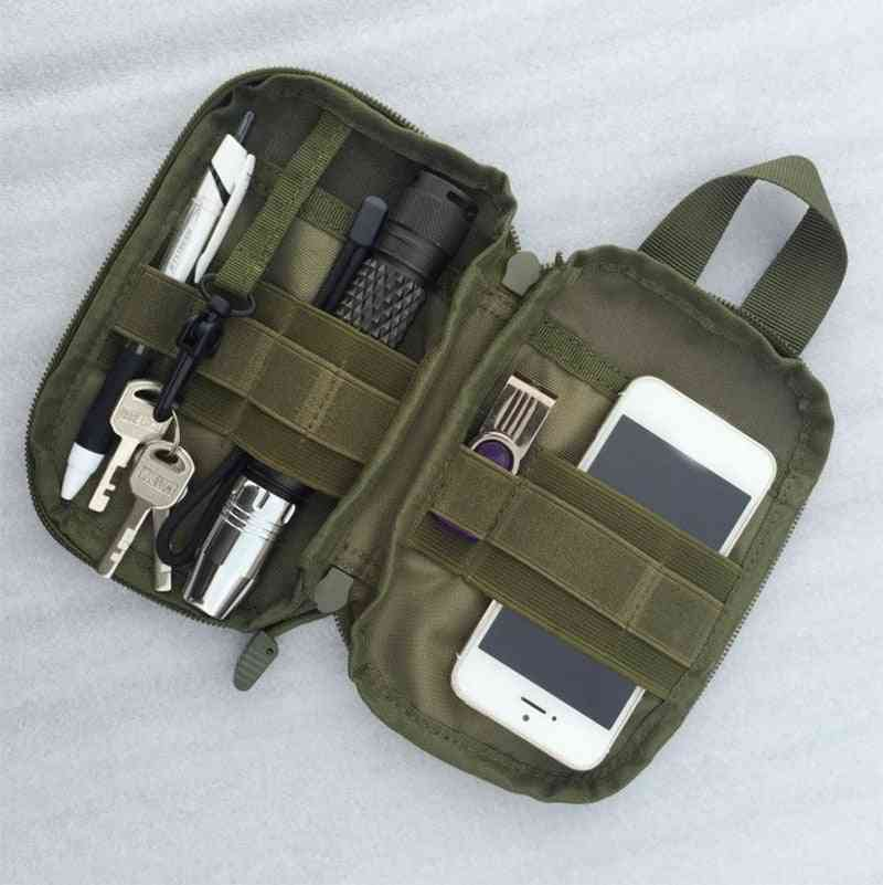 Tactical Military Edc Molle Pouch, Small Waist Pack, Hunting Bag