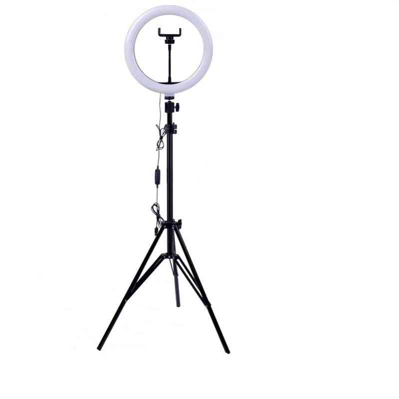 Dimmable Led, Selfie Ring For Phone Camera - Tripod For Video