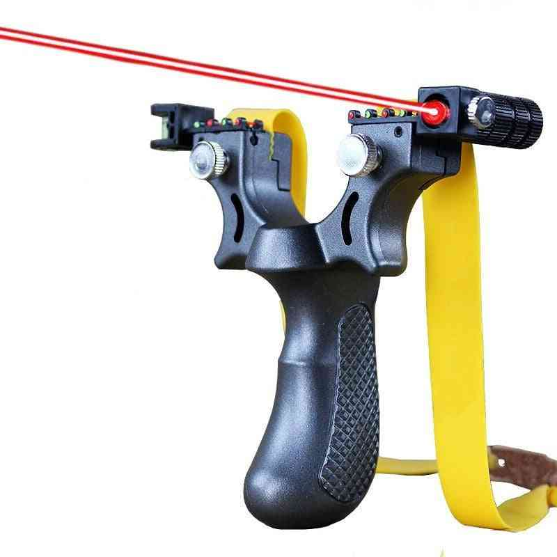 Laser Aiming Resin Slingshot Catapult With Flat Rubber Band