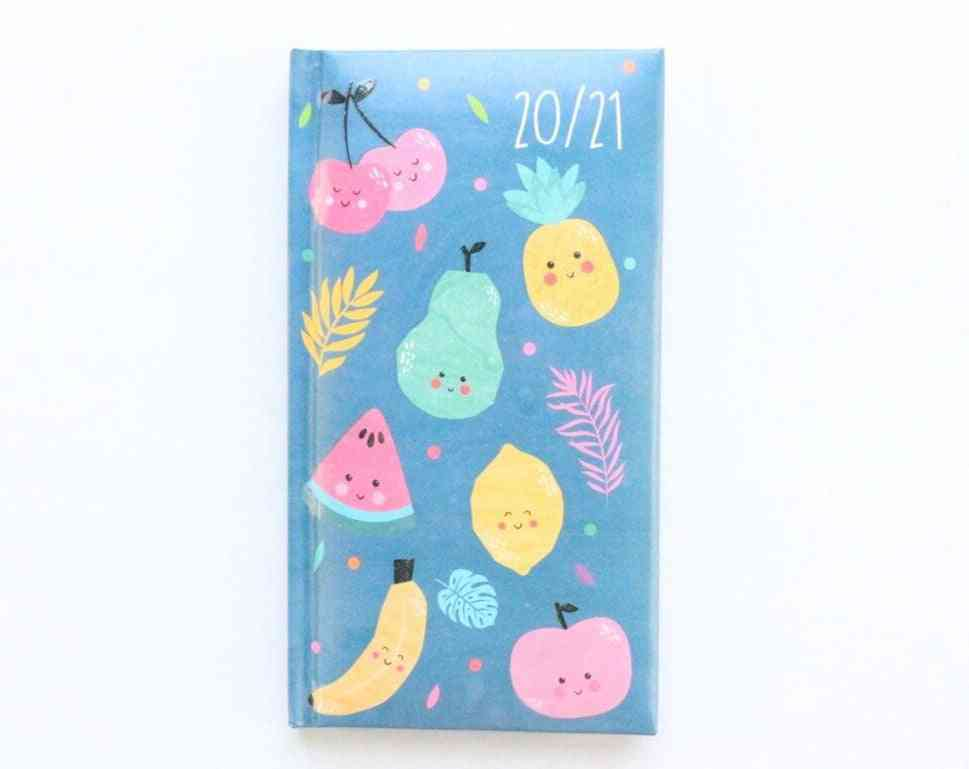 Calendar Agenda Planner Organizer For School Student, Cute Hardcover Pocket Weekly-planner Notebook