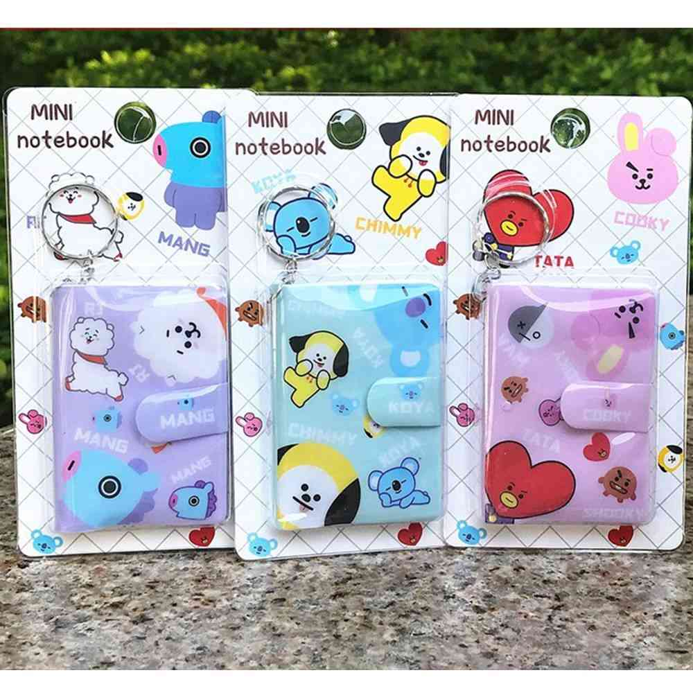 Cartoon Notepad Hard-cover Memo, Time Organizer For Student