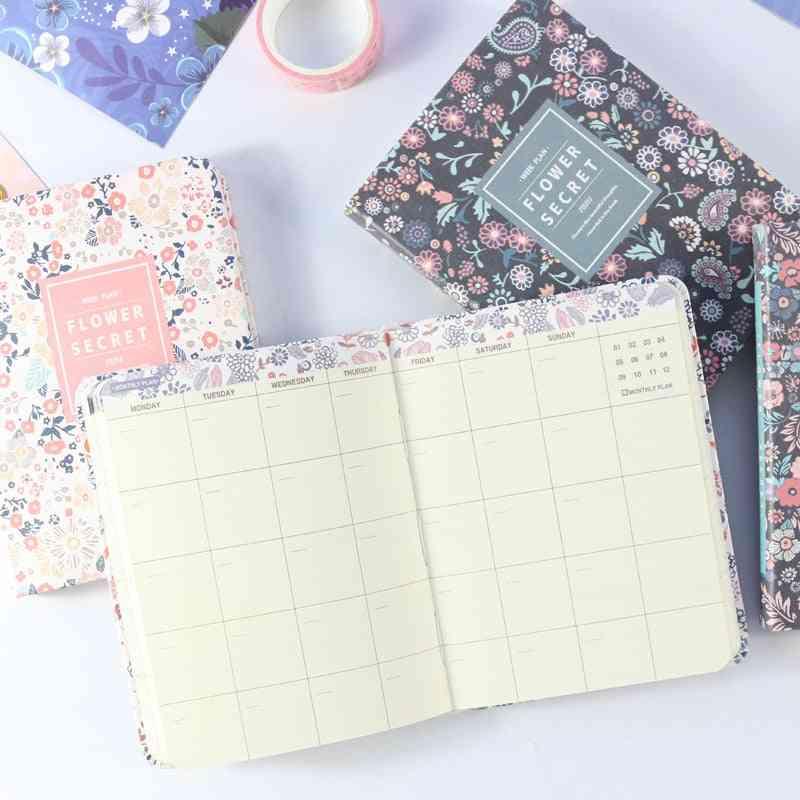 Cute School Weekly-planner Notebook, Fine Person Agenda Planner Organizer A6
