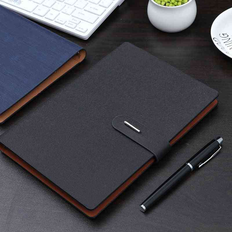 Notebook-a5 Metal-button Page Notebook For Study/meeting Notebook