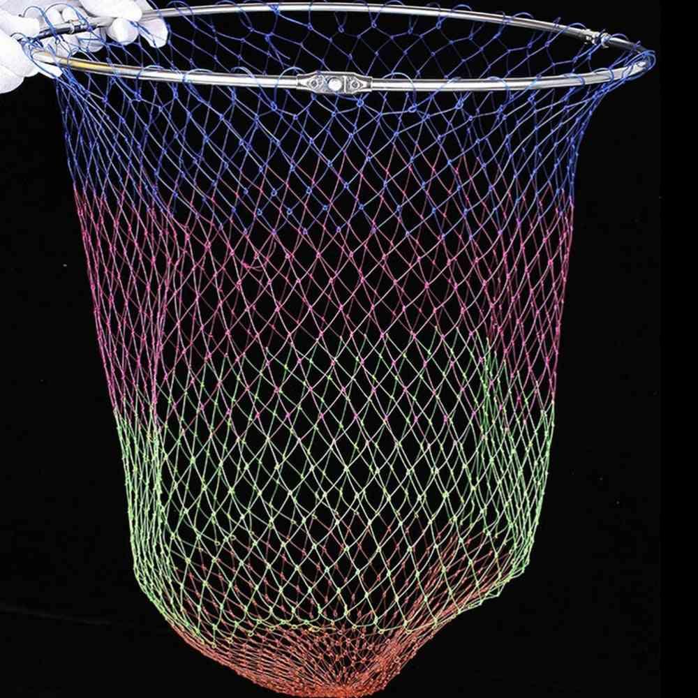 Nylon Fishing Nets Collapsible Tools Rhombus Mesh Hole Depth Folding Landing Dip