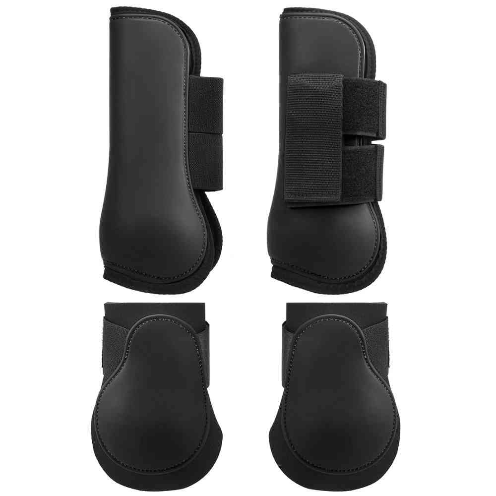 Adjustable Front And Hind Leg Boots Set For Horse