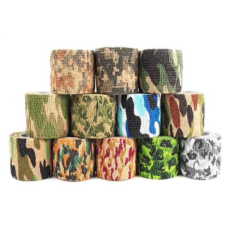 Retainable Plastic Non-woven Outdoor Camouflage Tape For Tree Stands Hunting