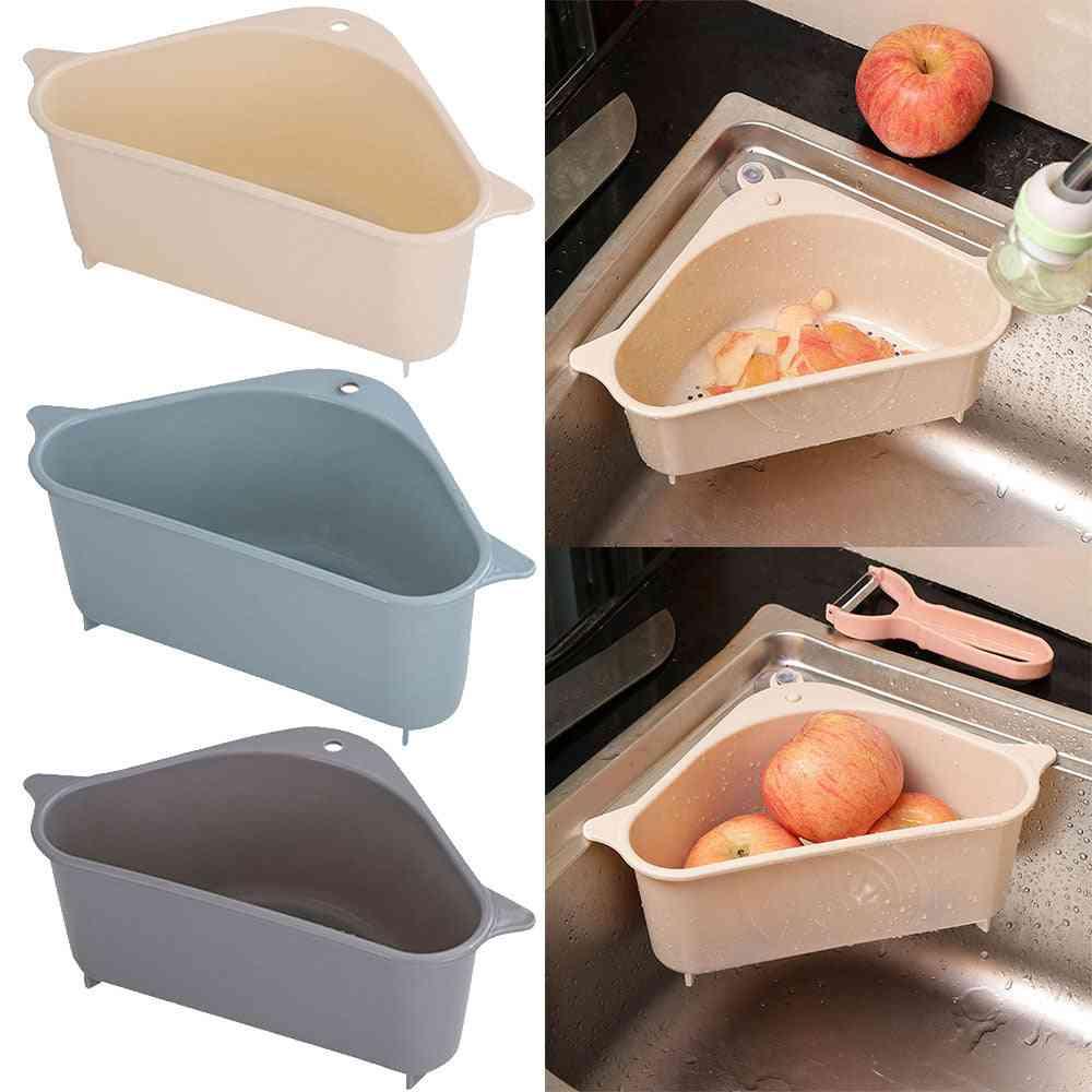 Sink Self-standing Drain Basket For Kitchen