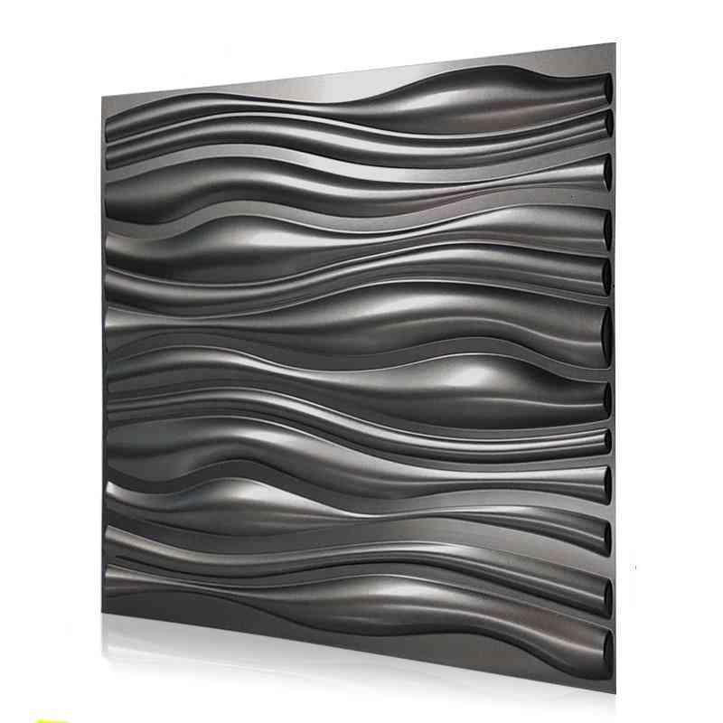 3d Art Wallboard Geometric -cut Diamond Wood Carved Wall Sticker