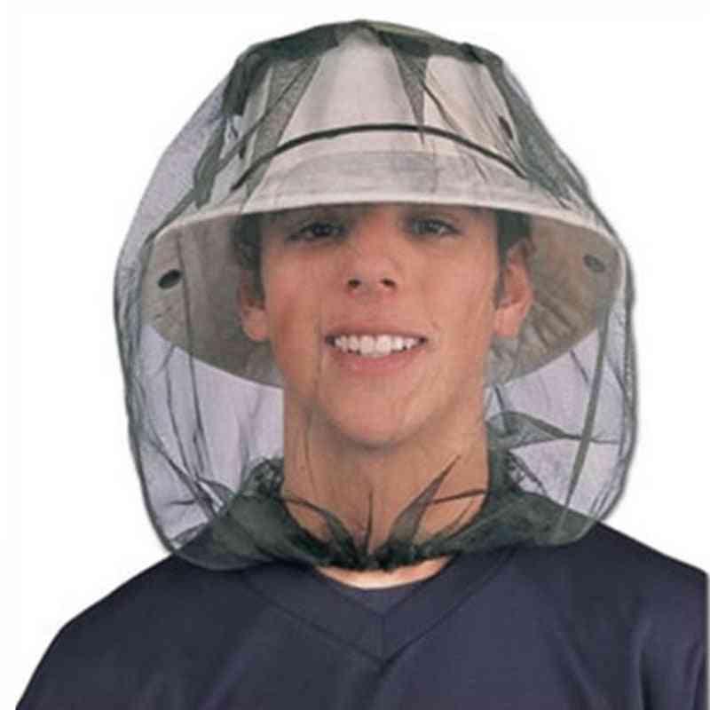 Outdoor Anti Mosquito Fishing Head Net Cap