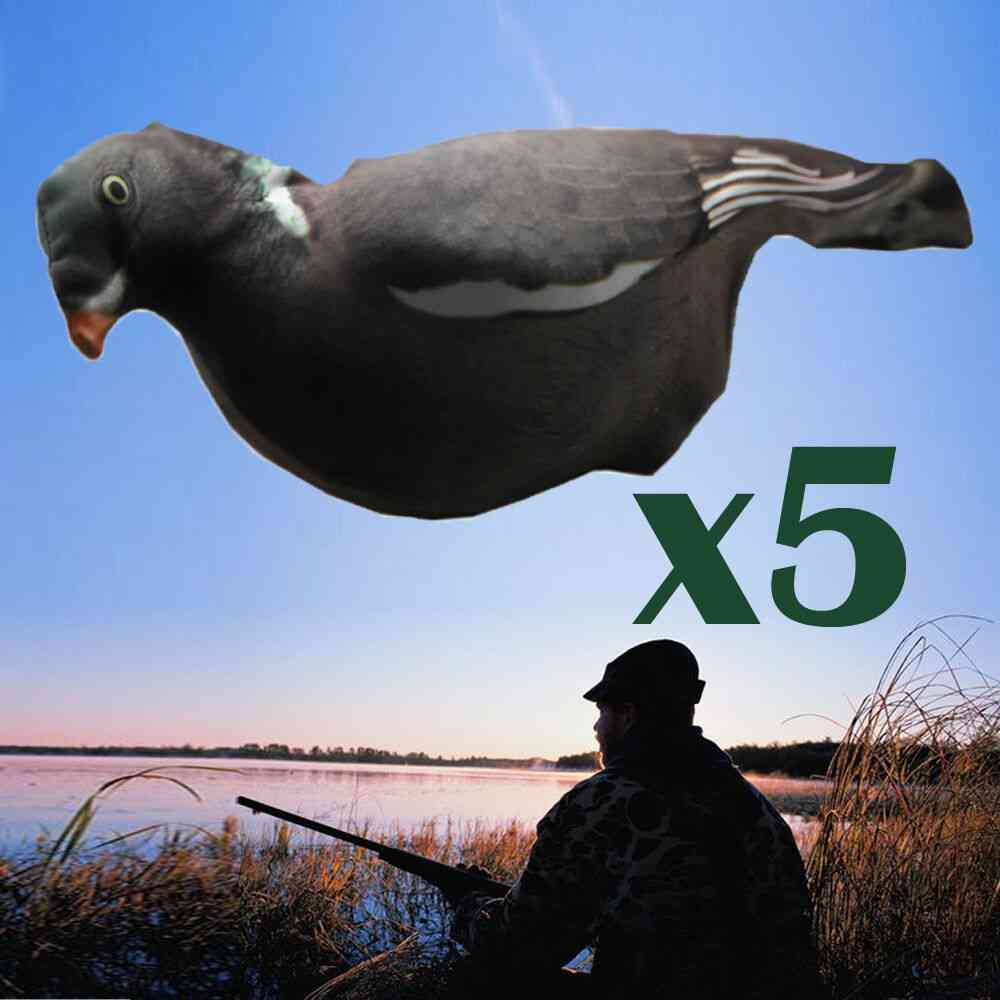 Flocked Full Body Realistic 3d Pull Pigeons Covers Flexible Fabric Decoys