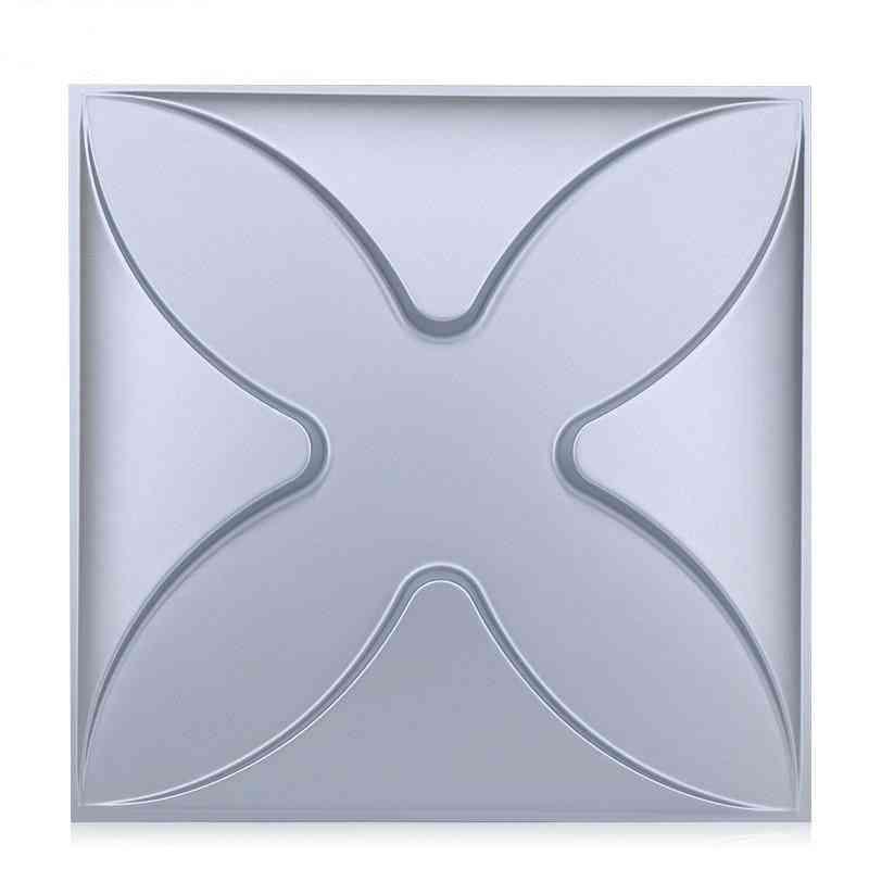 3d Art Plaster Cutting Geometric Flower - Wood Adhesives Bottom Wall Sticker