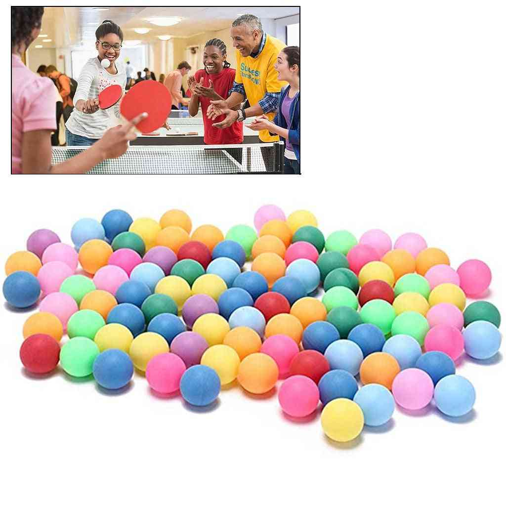 Colored Table Tennis Pingpong Balls For Game Activity