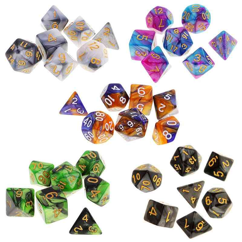 Double-colors Polyhedral Game Dice