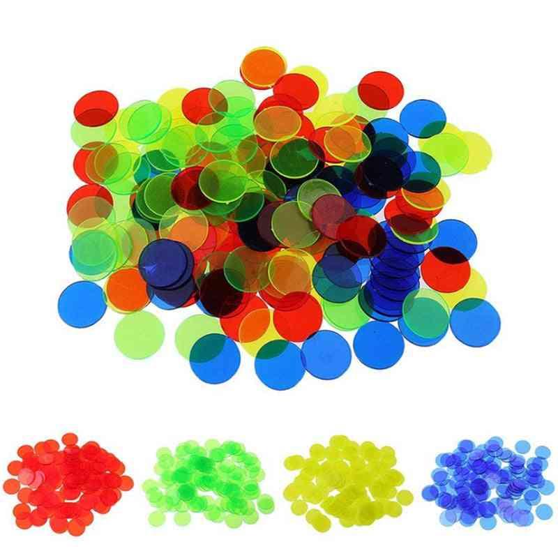 Plastic Poker Chips Casino, Bingo Markers For Fun Family, Club Carnival, Bingo Game