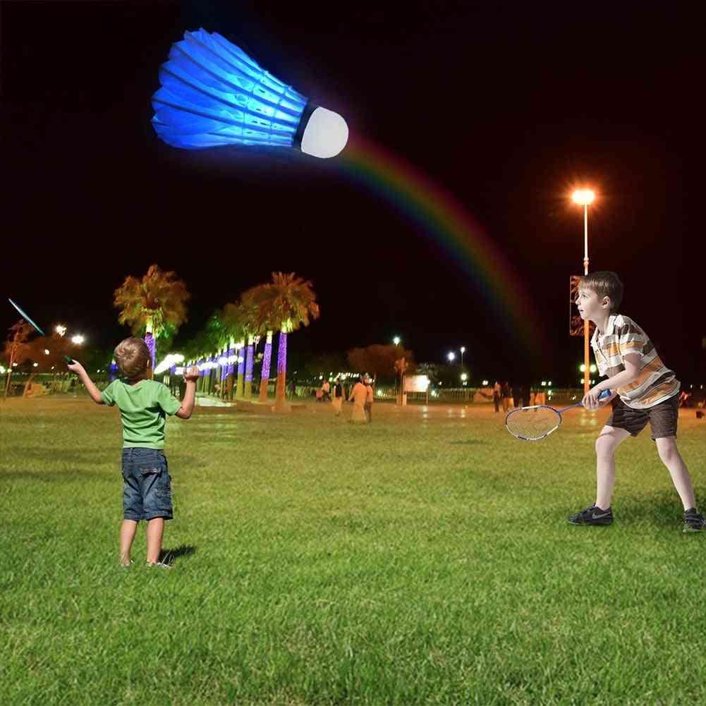 Badminton Led Shuttlecock For Dark Night Sport