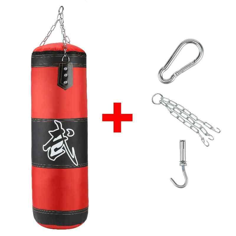 Empty Boxing Sandbag- Home Fitness Hook Hanging, Kick Punching Bag