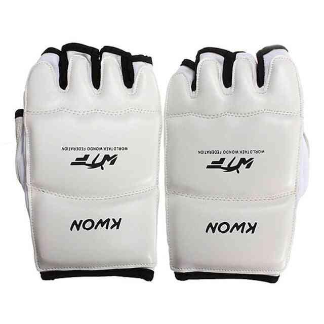 Leather Half Finger Kids Karate/boxing Gloves