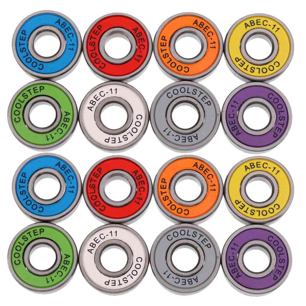 Set Of 16pcs Abec-11 Wearproof Inline Bearings For Skate Board