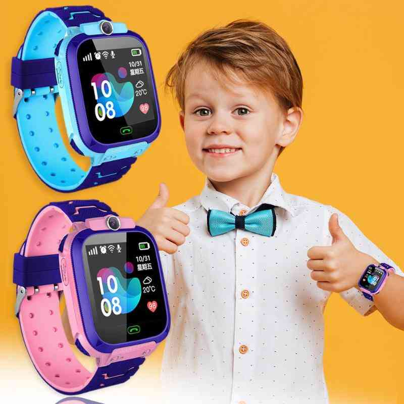 Children Smart Watch With Camera, Touch Screen, Sos Call And Location Tracker