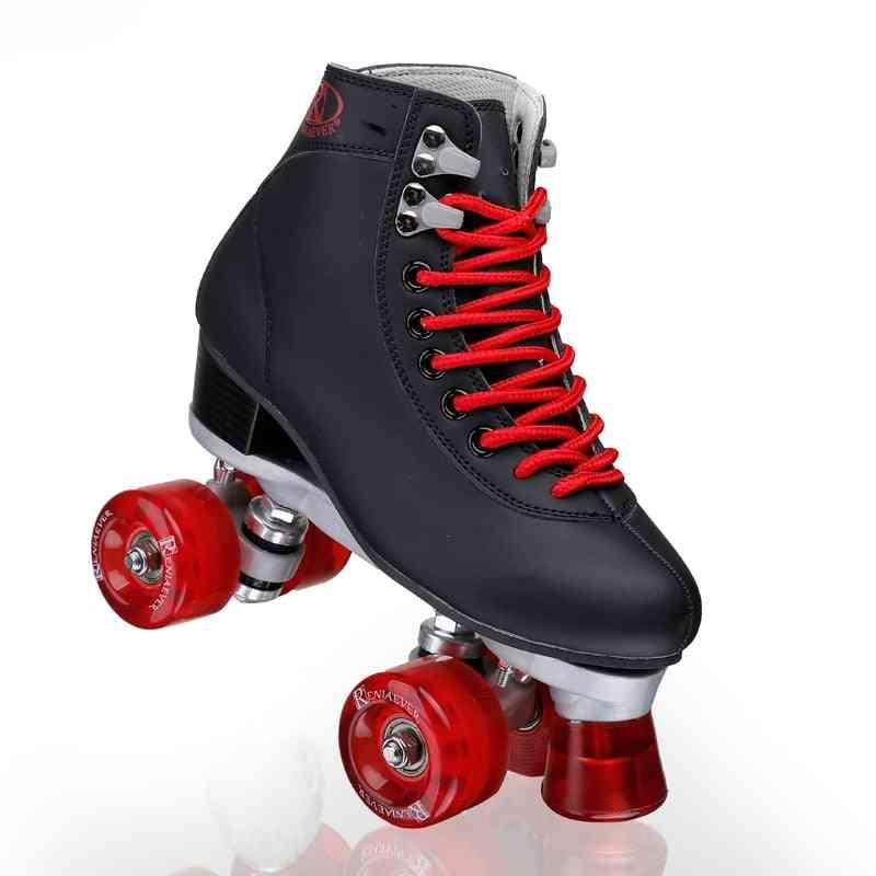 4-wheels Roller Skates High-toe Shoe