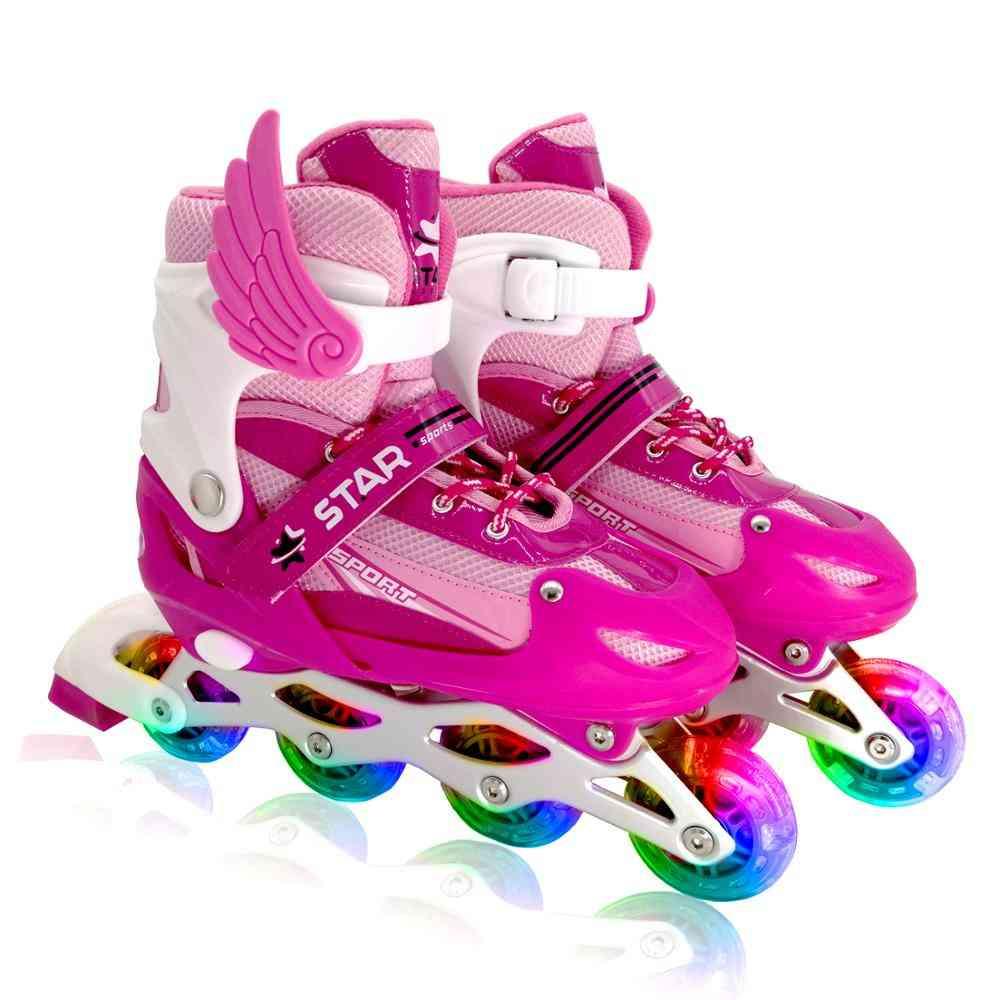 Adjustable, Flashing Roller, Skating Boots