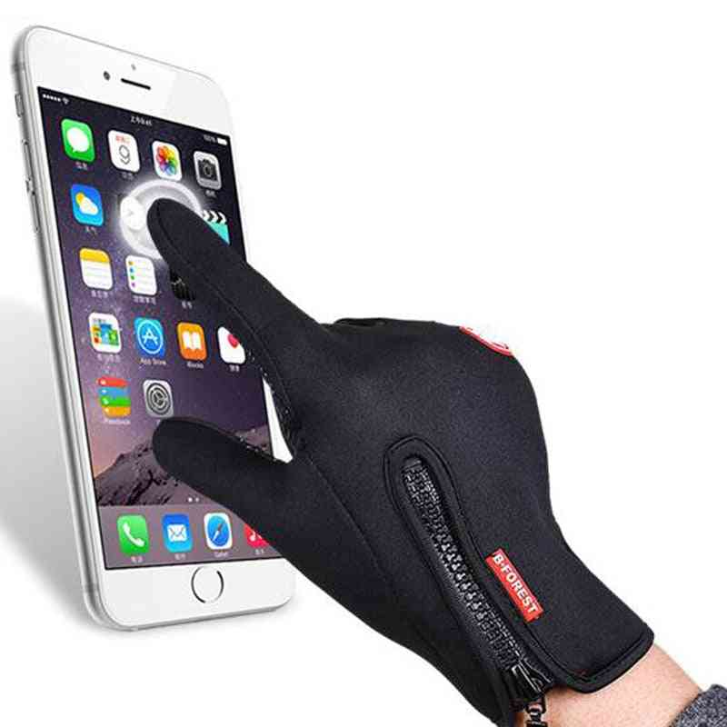 Classic Touch Screen And Windproof Horse Riding Gloves