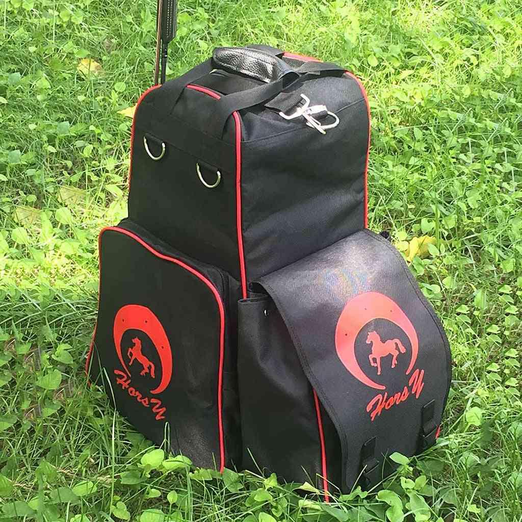 Horse Riding Boots Helmet Carry Bag, Waterproof Equestrian Duffle Organizer