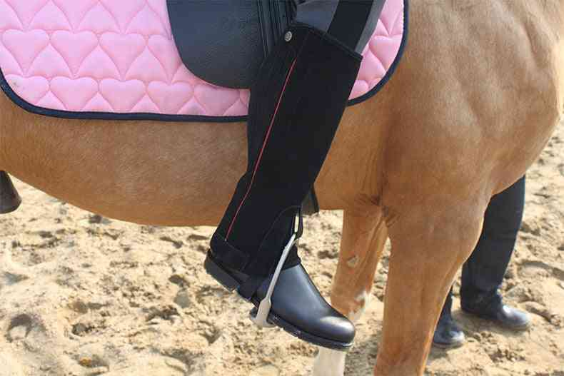Profession Half Chaps Horse Riding Suede Leather Equestrian Body Protector Equipment Genuine