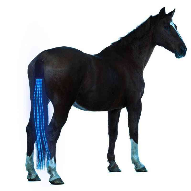 Horse Tail Usb Lights Chargeable Led Crupper Harness Equestrian, Outdoor Sport Riding Equipment